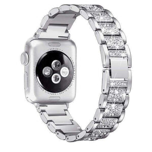Crystal Stainless Steel Watch Bands For Apple Watch [6 Variations]