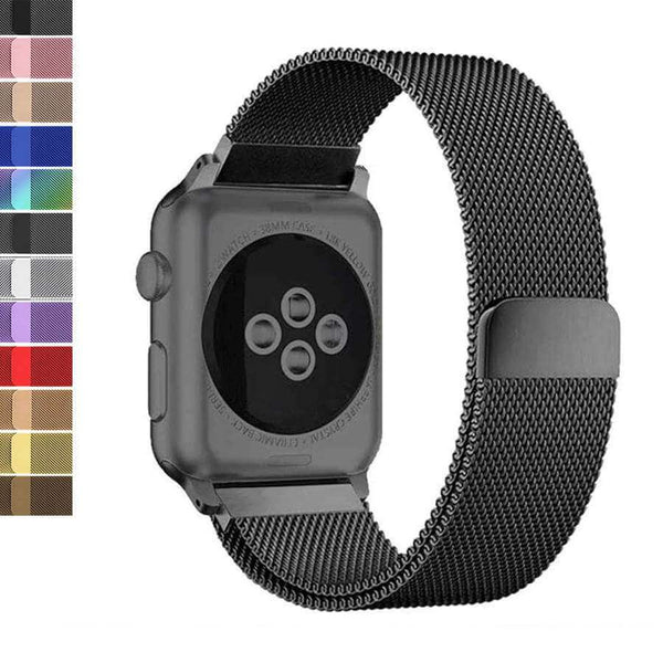 Black Milanese Watch Bands for Apple Watch [W049]