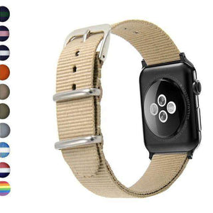 Tan Nylon Watch Bands for Apple Watch [W104]