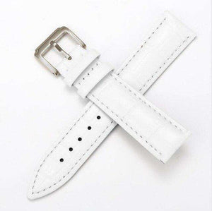 Gray 12mm 13mm 14mm 15mm 16mm White / Red / Pink / Blue Leather Watch Strap [W159]