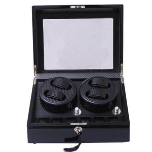 Quad Automatic Watch Winder With Carbon Fibre (4-Watches)