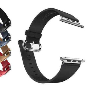 Dark Slate Gray Red / Blue / Brown / Black Leather Watch Bands for Apple Watch [W051]