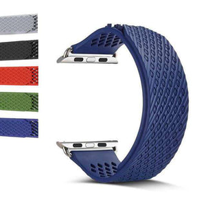 Dark Slate Gray Red / Blue / Green / Grey / Black Rubber Watch Bands for Apple Watch [W060]