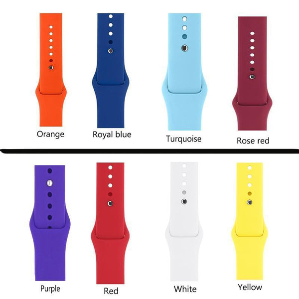 Silicone Apple Watch Bands [16 Variations]