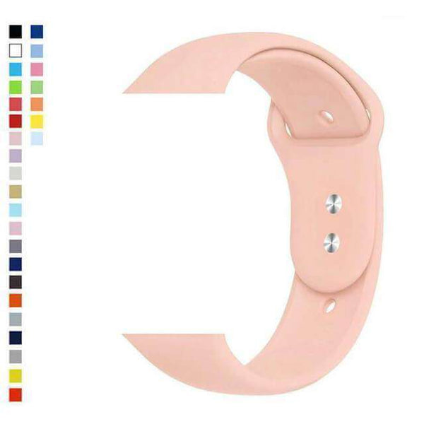 Light Pink Silicone Watch Bands for Apple Watch [W036]