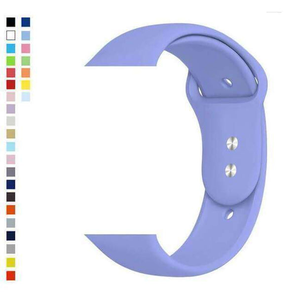Medium Purple Silicone Watch Bands for Apple Watch [W036]