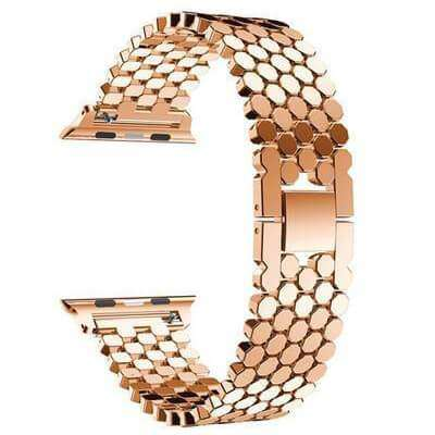Silver / Gold / Rose Gold / Black Stainless Steel Watch Bands For Apple Watch [4 Variations]