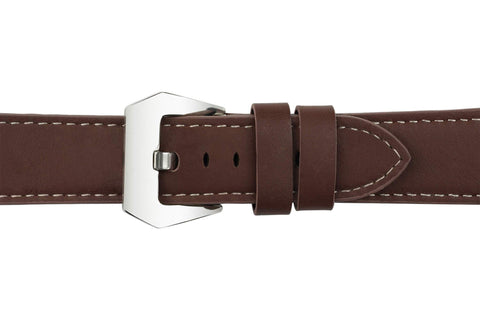 Watch Straps - 22mm Chocolate Brown Leather Watch Strap