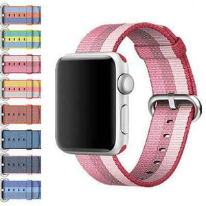 Black Woven Nylon Watch Bands for Apple Watch [X]