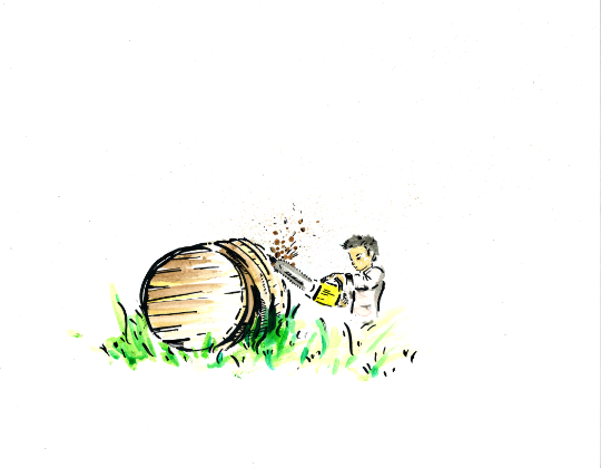 """The barrels"" small print"