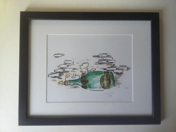 """The Vintage"" framed one of a kind print"
