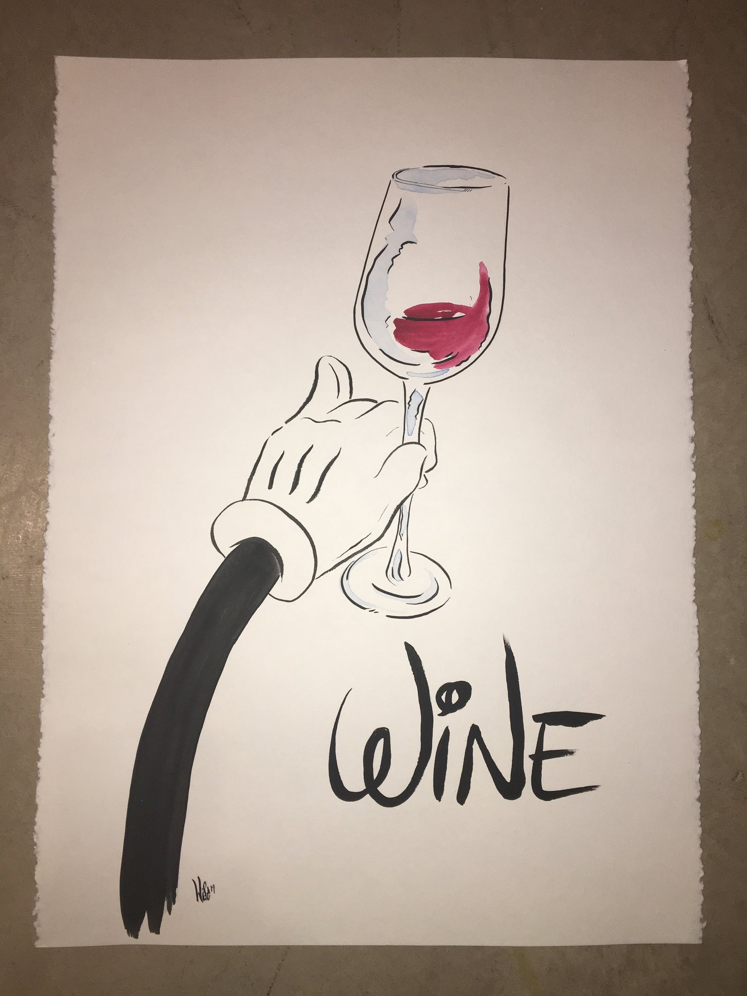 """Once upon a Wine"" original hand painted piece"