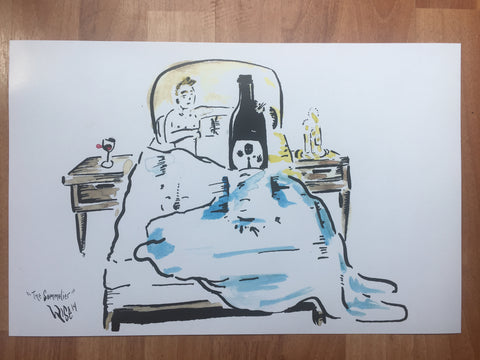"""The sommelier"" 11x17 ****PRINT signed"