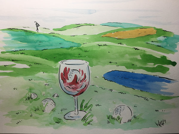 In the hole 12x18 hand painted original