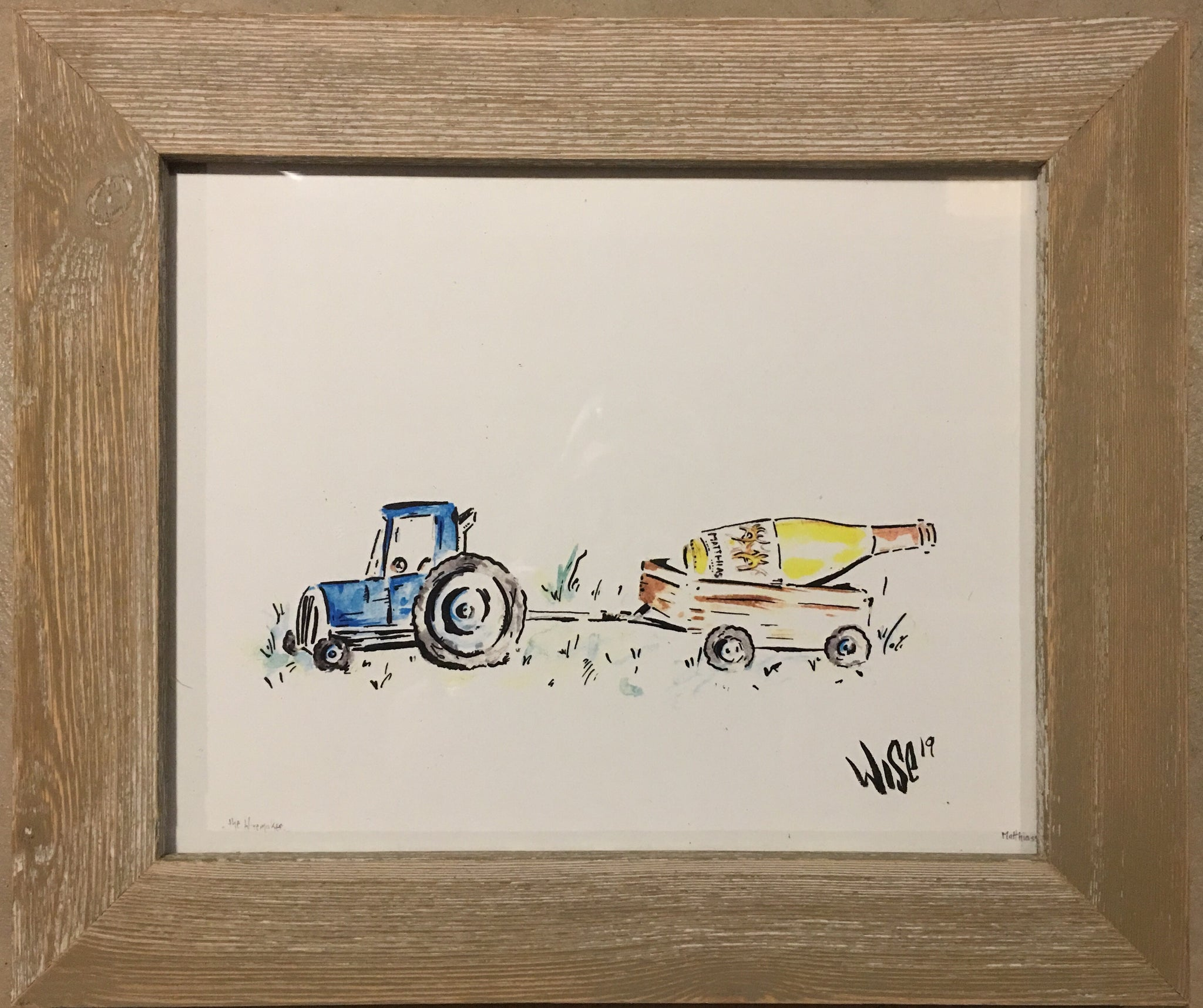 The Winemaker- Signed framed print