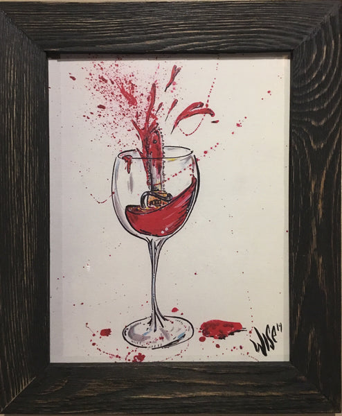 The tasting - Signed framed print