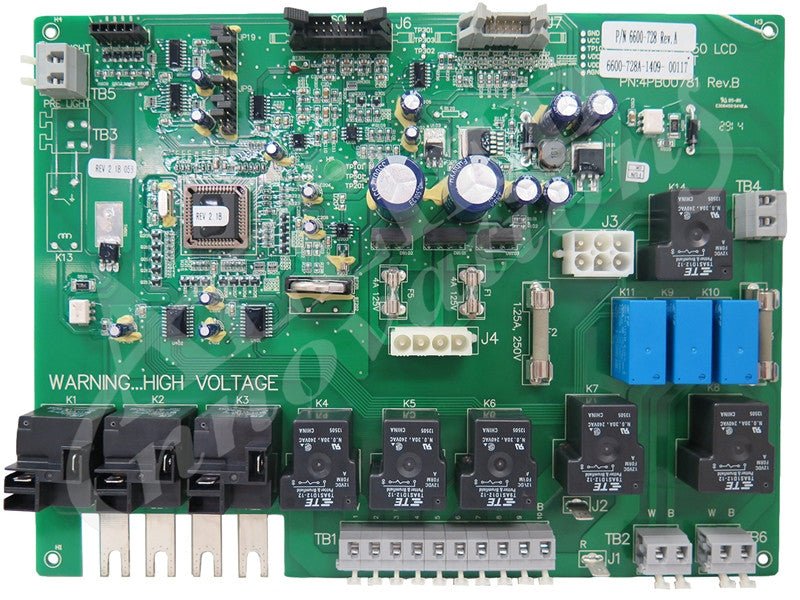 Sundance Circuit Board, 880 LCD 1 and 2 pump system, 6600-728