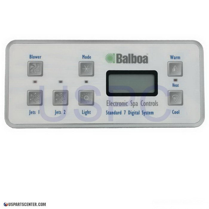 Balboa Panel VL701S/Serial Standard Digital Panel (2 Pump, Blower, Light) (53189-01)