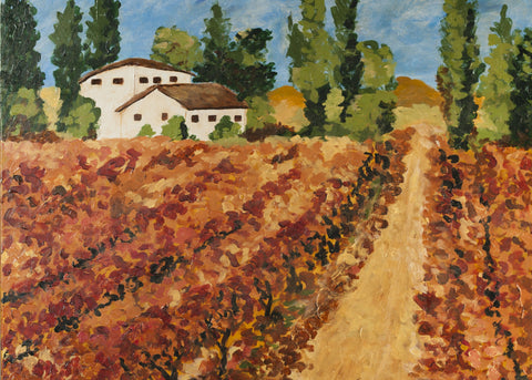 Day in the vineyard - Greeting Cards