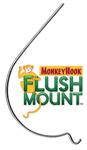 The Original Monkey Hook flush mount wall hanger