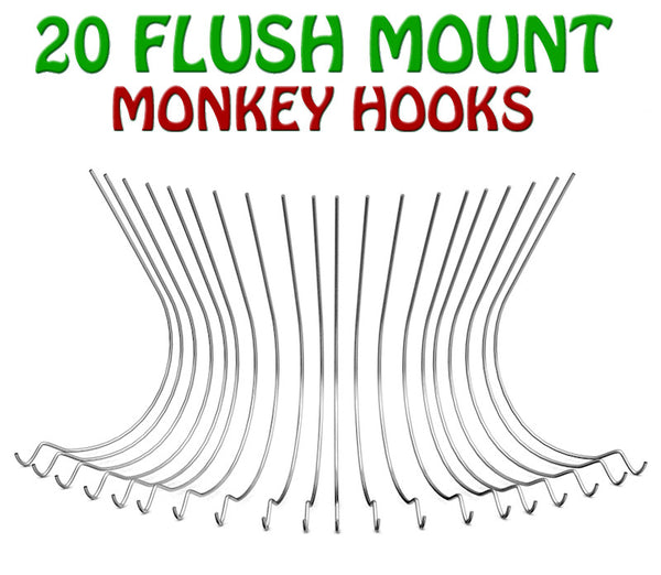 20 Flush Mount Monkey Hooks — Studio Pack