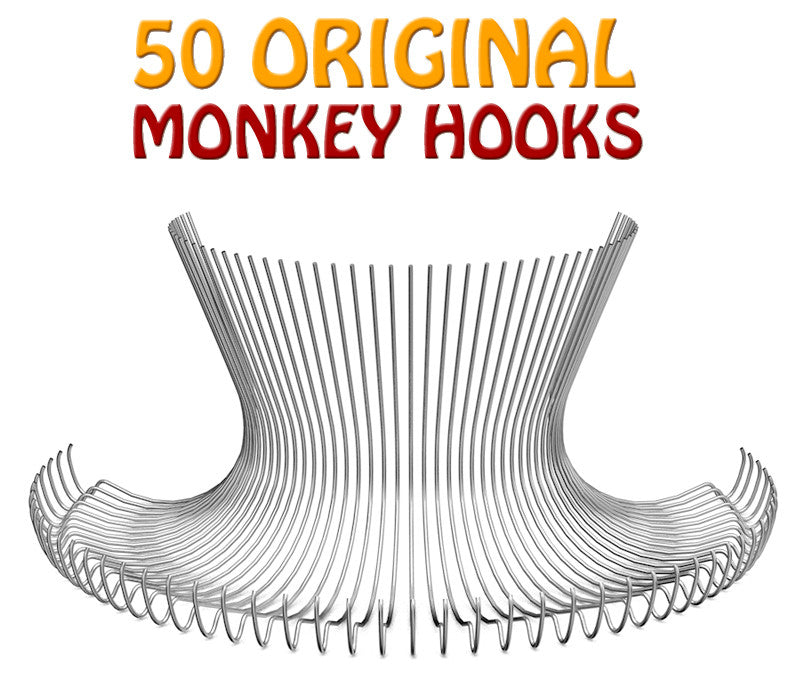 50 Original Monkey Hooks - Small Home Pack