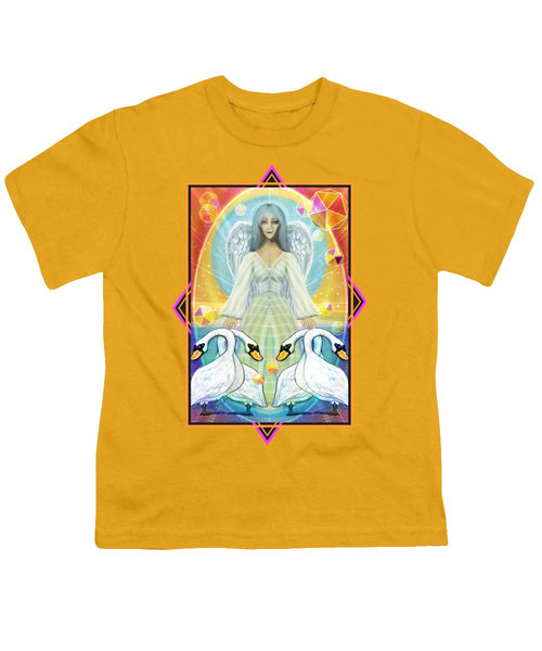 Archangel Haniel With Swans - Youth T-Shirt
