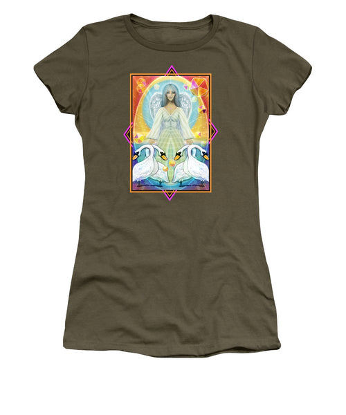 Archangel Haniel With Swans - Women's T-Shirt