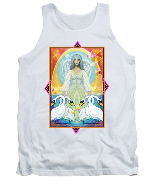 Archangel Haniel With Swans - Tank Top
