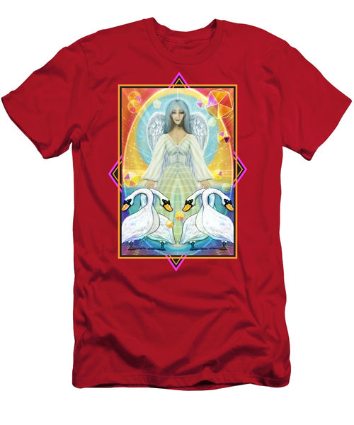 Archangel Haniel With Swans - Men's T-Shirt (Athletic Fit)