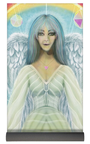 Archangel Haniel With Swans - Yoga Mat