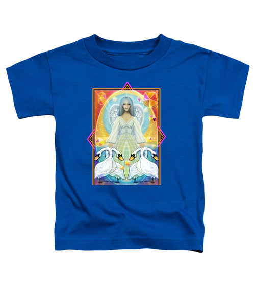 Archangel Haniel With Swans - Toddler T-Shirt