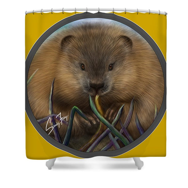 Beaver Spirit Guide - Shower Curtain