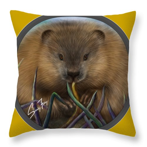 Beaver Spirit Guide - Throw Pillow
