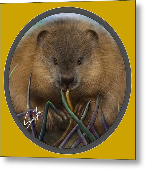 Beaver Spirit Guide - Metal Print