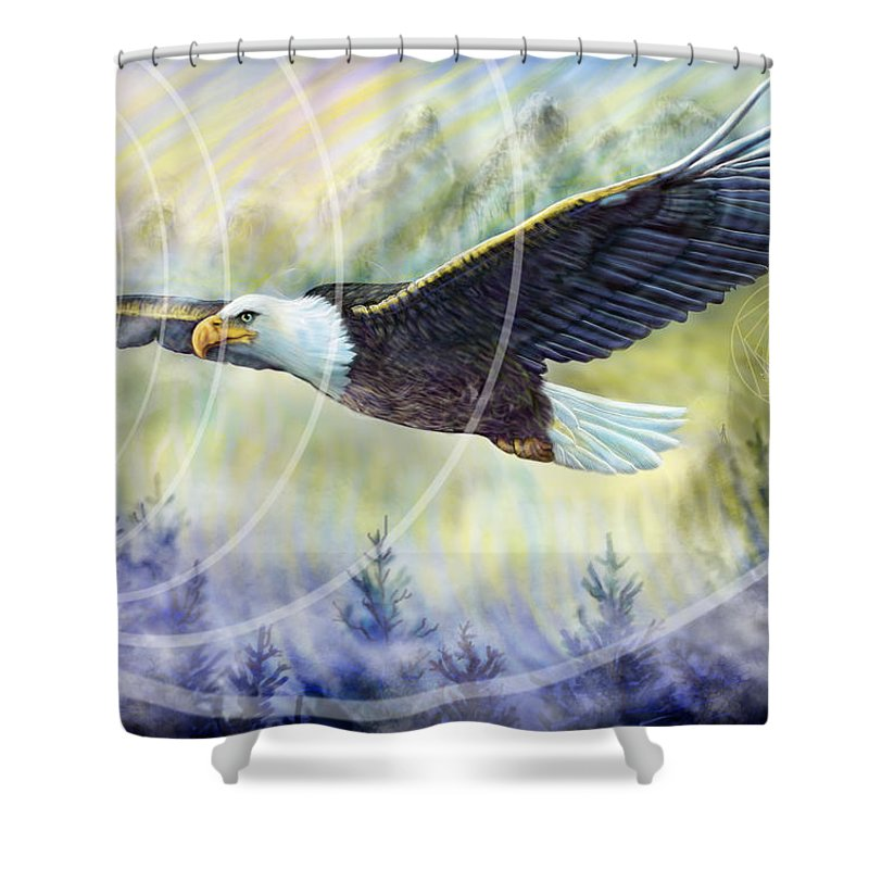 Eagle Rising - Shower Curtain