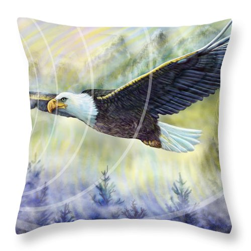 Eagle Rising - Throw Pillow