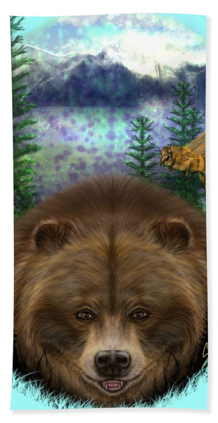 Honey Bear - Beach Towel