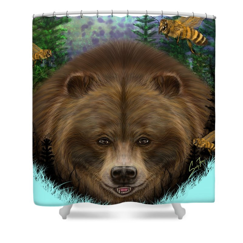 Honey Bear - Shower Curtain