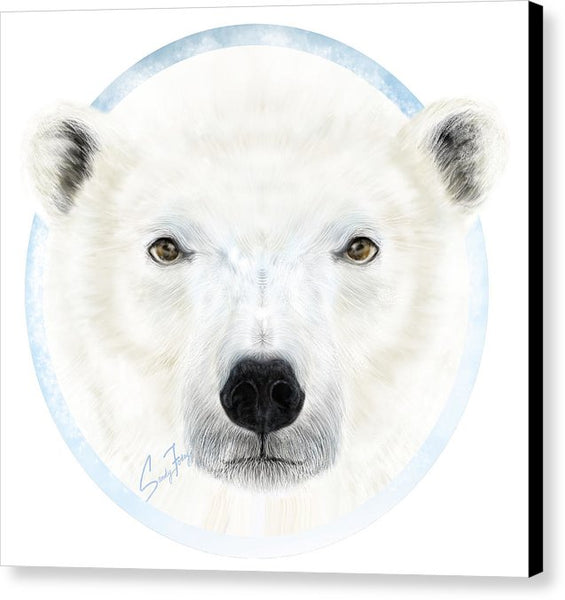 Polar Bear Spirit - Canvas Print