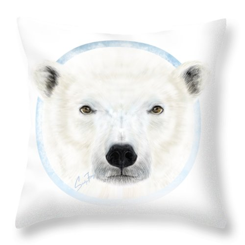 Polar Bear Spirit - Throw Pillow