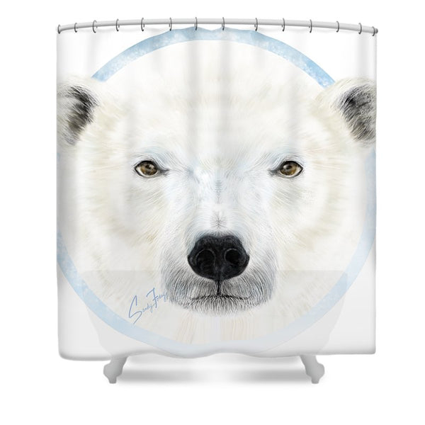 Polar Bear Spirit - Shower Curtain