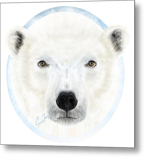 Polar Bear Spirit - Metal Print