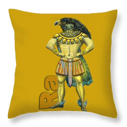 Ra, The Sun God - Throw Pillow
