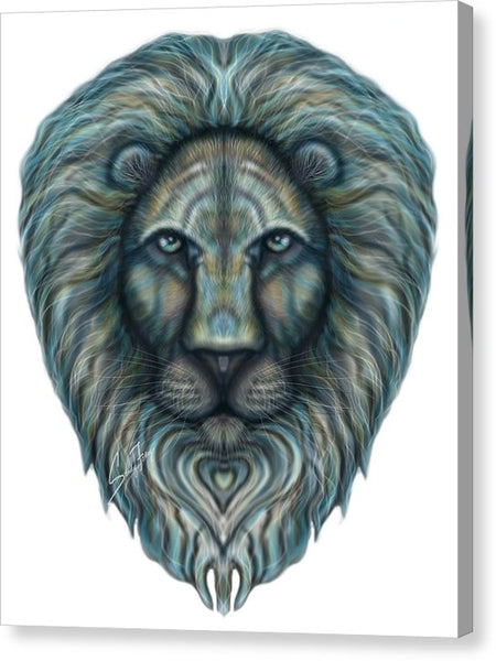 Radiant Rainbow Lion - Canvas Print