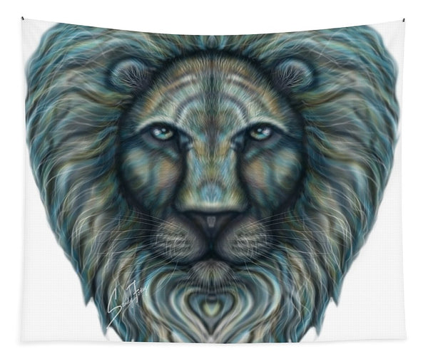 Radiant Rainbow Lion - Tapestry