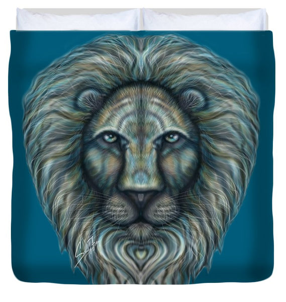 Radiant Rainbow Lion - Duvet Cover