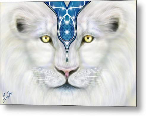 Sacred Lion Close Up - Metal Print