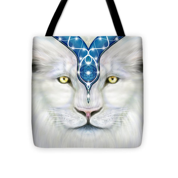 Sacred White Lion - Tote Bag