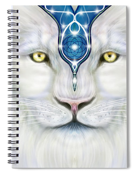 Sacred White Lion - Spiral Notebook